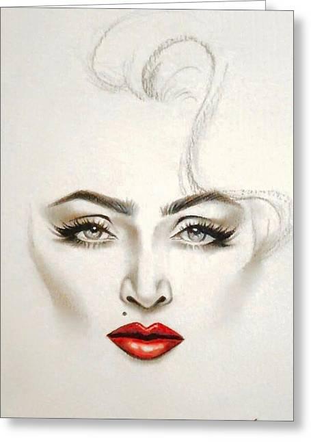 Madonna Material Greeting Card