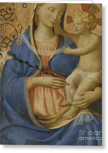 Madonna Of Humility Greeting Card by Fra Angelico