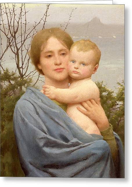 Baby Jesus Paintings Greeting Cards - Madonna of the Mount  Greeting Card by Thomas Cooper Gotch