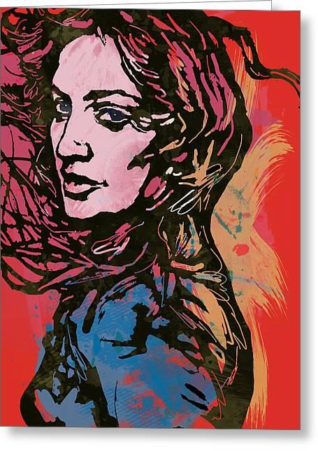 Madonna Pop Stylised Art Sketch Poster Greeting Card