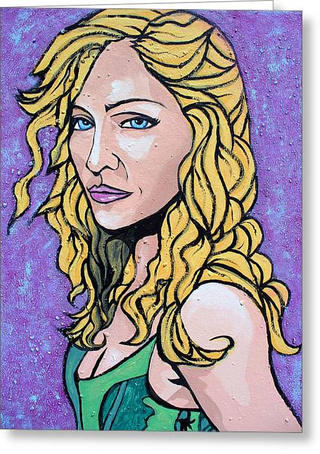 Greeting Card featuring the painting Madonna by Sarah Crumpler