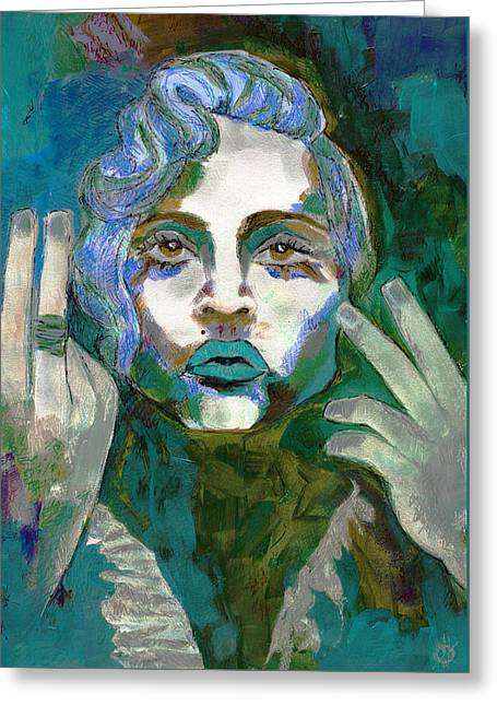 Madonna Vogue II Greeting Card by KM Paintings