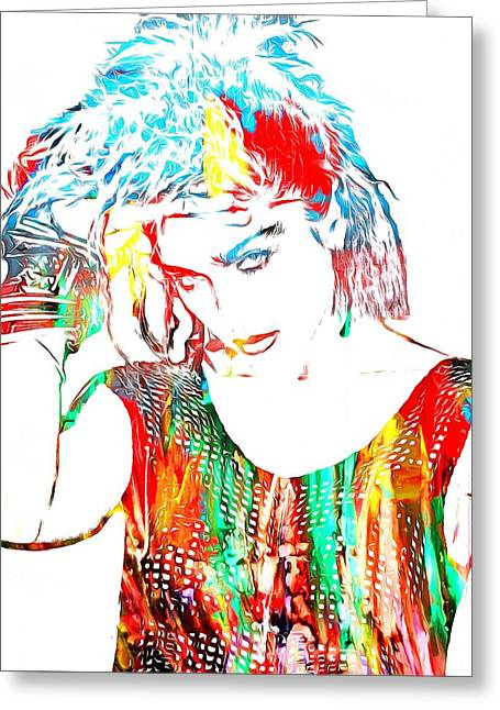 Madonna Watercolor Greeting Card by Dan Sproul
