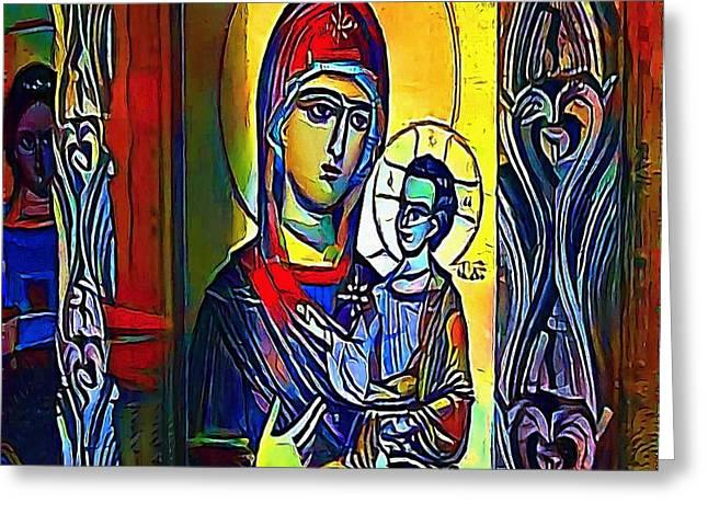 Madonna With The Child - My Www Vikinek-art.com Greeting Card by Viktor Lebeda