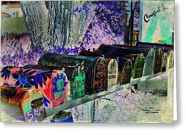 Madrid Mailboxes Greeting Card