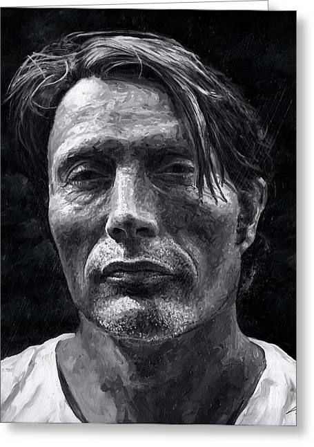Mads Mikkelsen Greeting Card