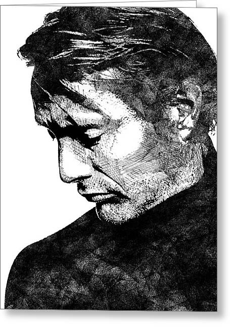 Mads Mikkelsen Greeting Card by Mihaela Pater