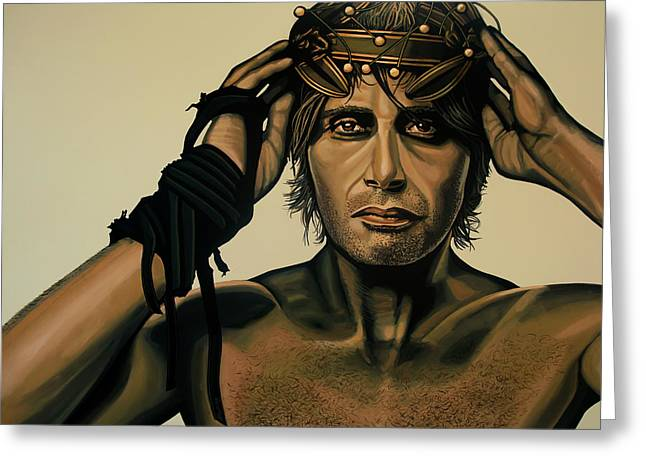 Mads Mikkelsen Painting Greeting Card