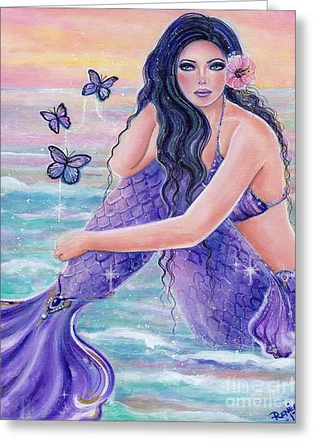 Maeva Mermaid Greeting Card by Renee Lavoie