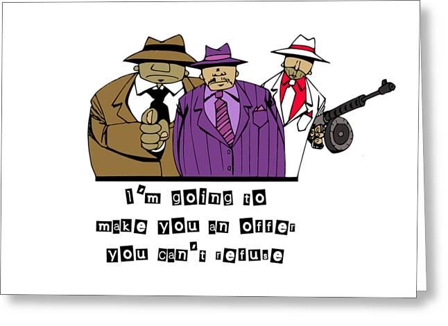 Mafia Greeting Card