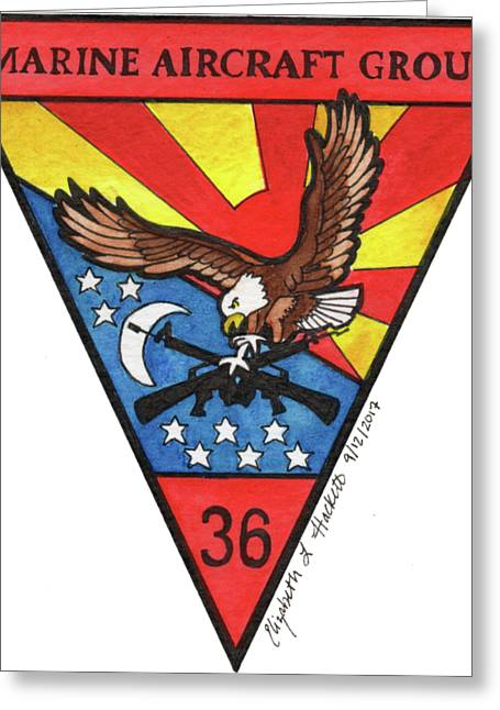 Mag-36 Patch Greeting Card