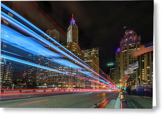 Mag Mile Warp Speed Greeting Card by Sean Foster