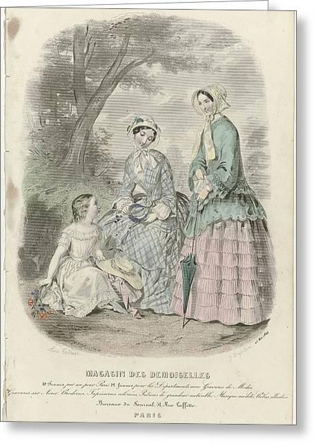 Magasin Des Demoiselles, 25 Mai 1849, J. Desjardins, 1849 Greeting Card by Celestial Images