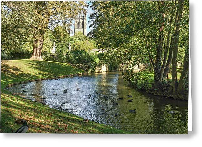 Greeting Card featuring the photograph Magdalen From The River Cherwell by Joe Winkler
