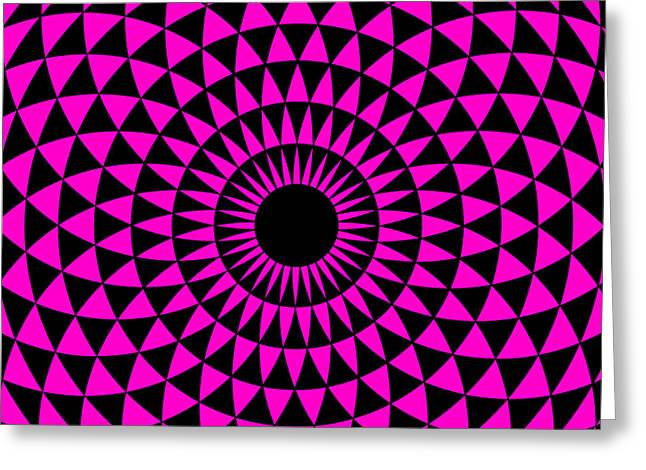 Greeting Card featuring the digital art Magenta Balance by Lucia Sirna