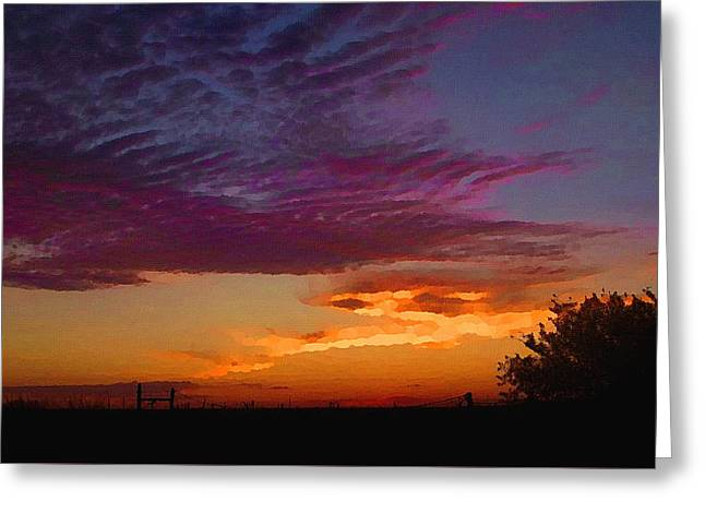 Magenta Morning Sky Greeting Card