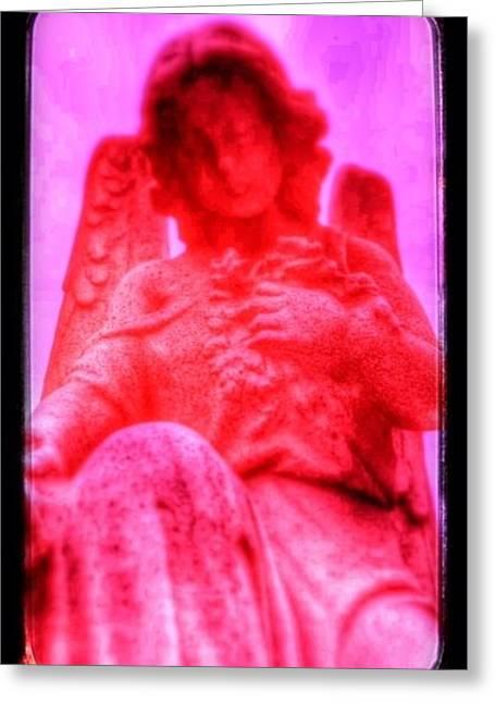 Magenta Rose Greeting Card by Christine Paris