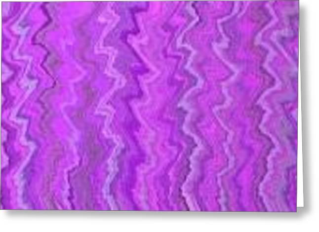 Magenta Waves  Greeting Card by Margalit Romano