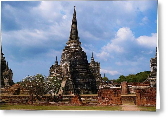 Magestic Stone Temple Greeting Card
