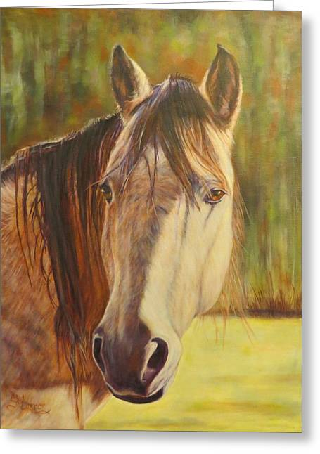 Maggie, Horse Portrait Greeting Card