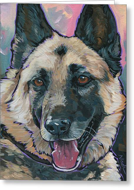 Maggie Greeting Card by Nadi Spencer