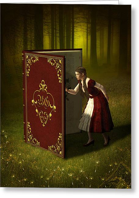 Magic Book Of Tales Greeting Card