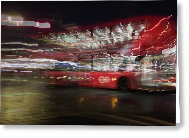 Greeting Card featuring the photograph Magic Bus by Alex Lapidus