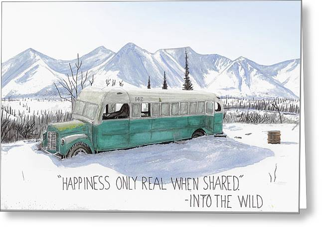 Magic Bus, Into The Wild Greeting Card