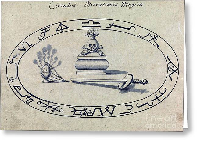 Magic Circle, Cabbalistic Symbols, 18th Greeting Card