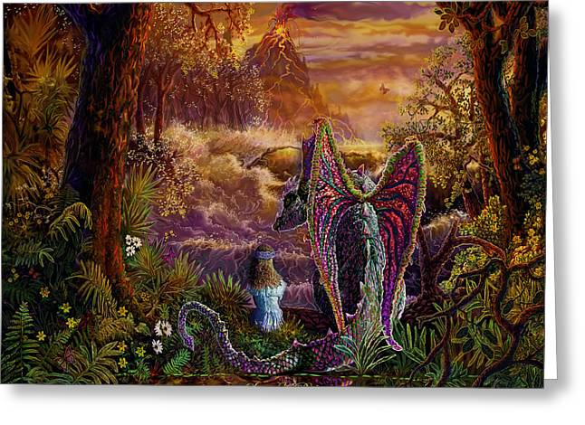 Greeting Card featuring the painting Magic Evening by Steve Roberts