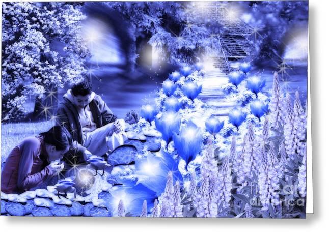 Magic Flower Path Greeting Card
