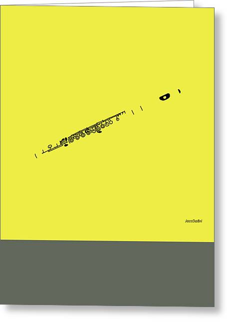 Magic Flute In Yellow Greeting Card