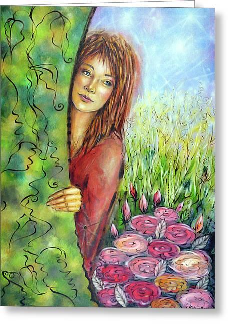 Magic Garden 021108 Greeting Card by Selena Boron