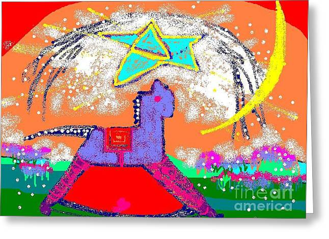 Magic Horse Greeting Card by Beebe  Barksdale-Bruner
