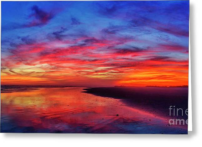 Greeting Card featuring the photograph Magic Hour by DJA Images