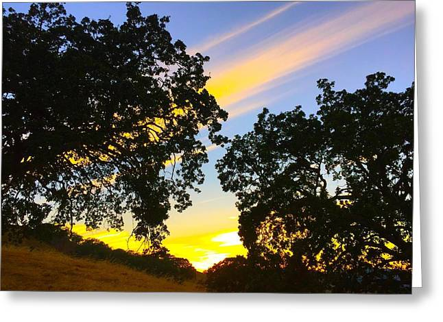Magic Hour Sunset Greeting Card