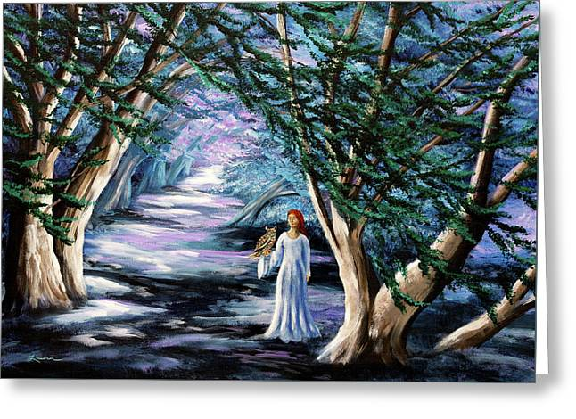Magic In Cypress Woods Greeting Card by Laura Iverson