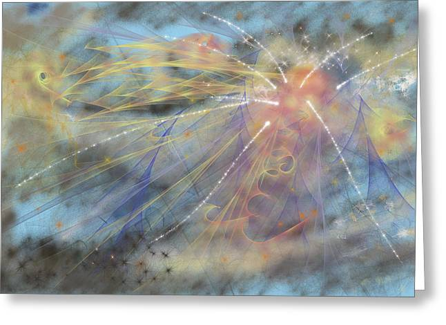 Magic In The Skies Greeting Card by Angela A Stanton