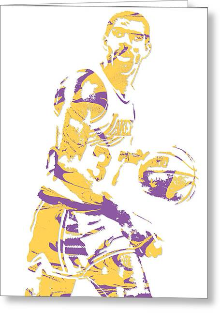 Magic Johnson Los Angeles Lakers Pixel Art 6 Greeting Card