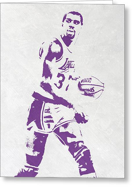 Magic Johnson Los Angeles Lakers Pixel Art Greeting Card