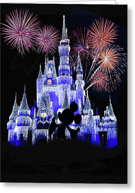 Magic Kingdom Castle Greeting Card by Art Spectrum