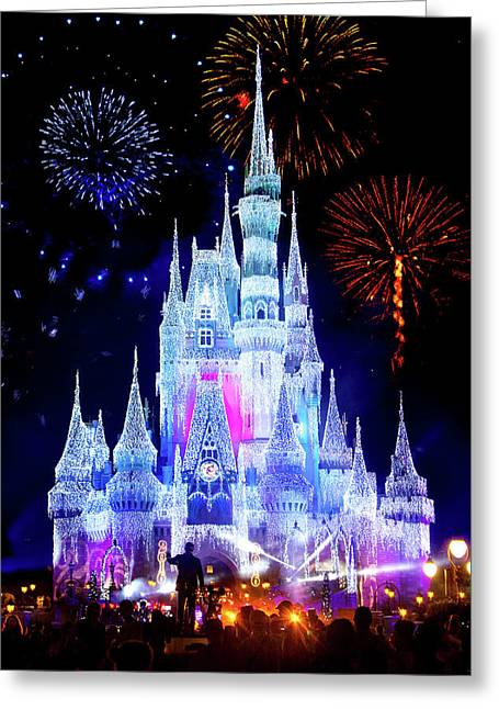 Magic Kingdom Fireworks Greeting Card