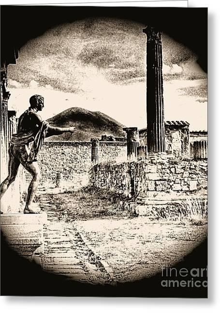 Magic Lantern Pompeii Greeting Card