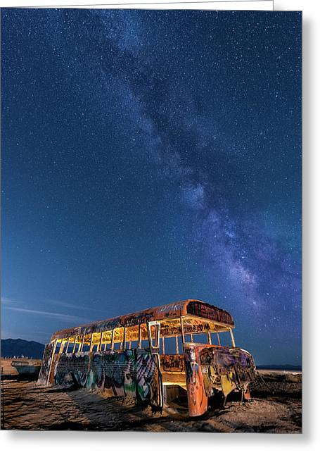 Magic Milky Way Bus Greeting Card