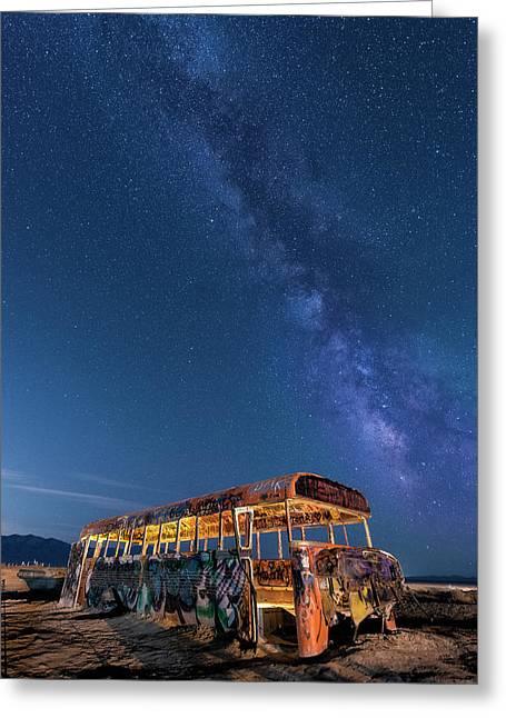 Magic Milky Way Bus Greeting Card