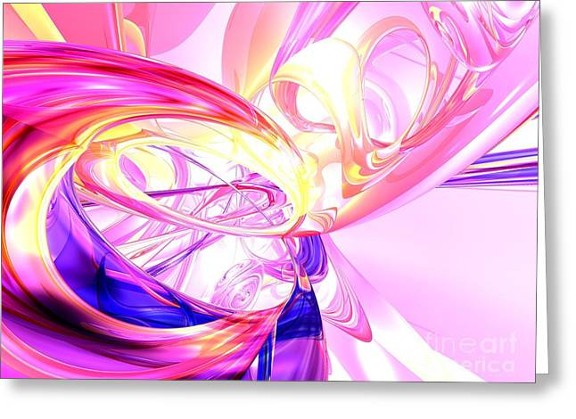 Magic Moments Abstract Greeting Card by Alexander Butler