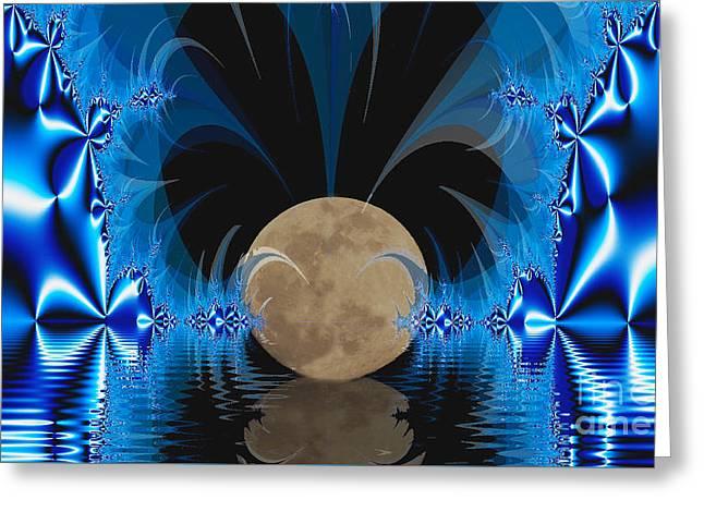 Magic Moon Greeting Card by Geraldine DeBoer