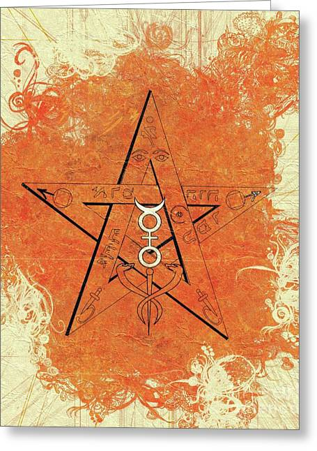 Magic, Occult, Mystic, Symbolism Greeting Card