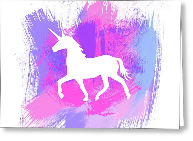 Magic Unicorn 1- Art By Linda Woods Greeting Card