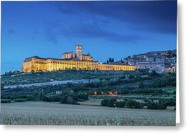 Magical Assisi Greeting Card by JR Photography